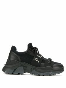 Philipp Plein crystal running sneakers - Black