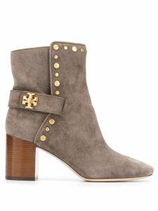 Tory Burch Kira studded boots - Neutrals