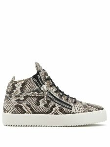 Giuseppe Zanotti Kriss python-effect sneakers - Brown