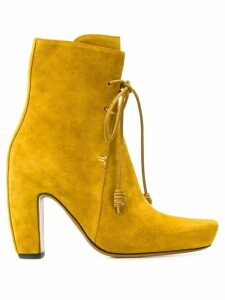 LANVIN 150mm ankle lace-up boots - Yellow