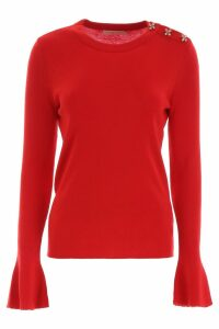 Tory Burch Crystal Button Pullover