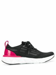 Ea7 Emporio Armani stretch fit logo sneakers - Black