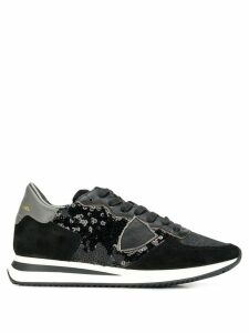 Philippe Model Tropez sequin-embellished sneakers - Black