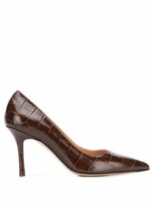 The Seller crocodile-effect pointed pumps - Brown