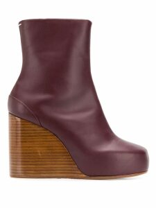 Maison Margiela square 100 wedge boots - Red