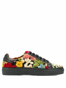 Etro floral lace-up sneakers - Black