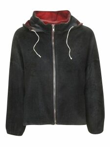 f cashmere Hooded Zipped Cardigan