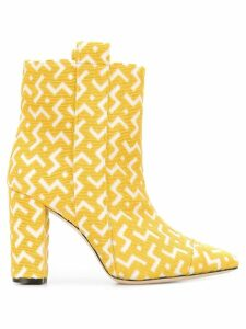 Bams geometric pattern ankle boots - Yellow