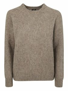 Aspesi Knitted Ribbed Sweater