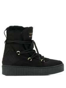 Tommy Hilfiger lace-up snow boots - Black