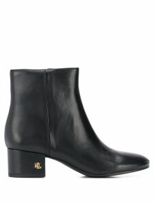 Lauren Ralph Lauren side zip ankle boots - Black
