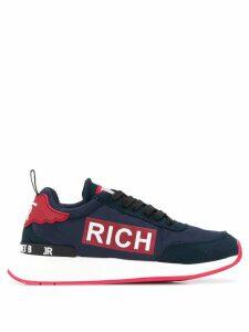 John Richmond logo patch sneakers - Blue
