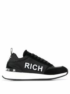 John Richmond tonal panels logo sneakers - Black