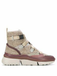 Chloé Sonnie high-top sneakers - Neutrals