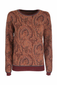 Paisley jacquard print Etro pullover