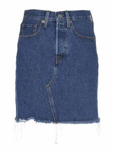 Levis Frayed Short Skirt