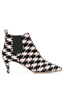 Bams geometric print ankle boots - PINK