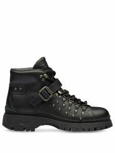 Prada studded combat boots - Black