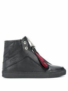 Zadig & Voltaire high zip sneakers - Black