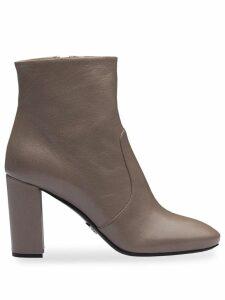 Prada Madras ankle boots - Grey