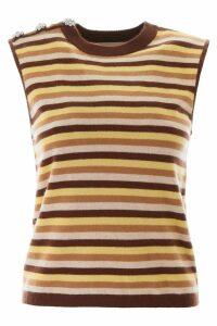 Ganni Sleeveless Striped Knit