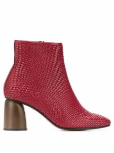Souliers Martinez Pilar woven ankle boots - Red