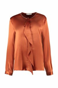 Fabiana Filippi Ruffled Satin Shirt