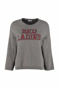 RED Valentino Red Ladies Intarsia Pullover