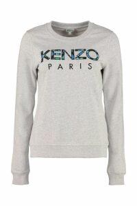 Kenzo Peonie Cotton Crew-neck Sweatshirt