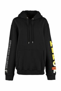 HERON PRESTON Printed Cotton Hoodie