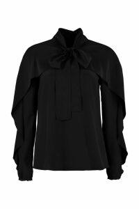 RED Valentino Foulard Collar Silk Blouse