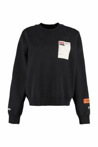 HERON PRESTON Cotton Crew-neck Sweatshirt