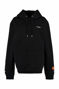 HERON PRESTON Embroidered Cotton Hoodie
