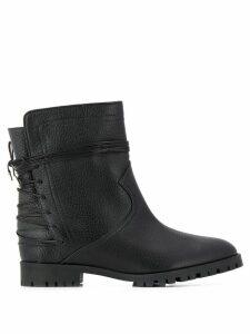 Aquazzura lace-up embellishment ankle boots - Black