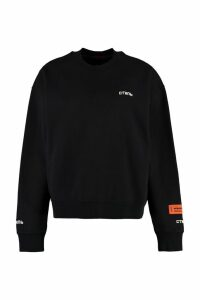 HERON PRESTON Embroidered Cotton Sweatshirt