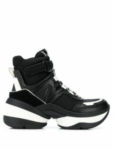 Michael Michael Kors panelled high top sneakers - Black