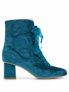 Forte Forte lace-up ankle boots - Blue