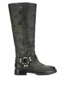 Diesel textured knee high boots - Black