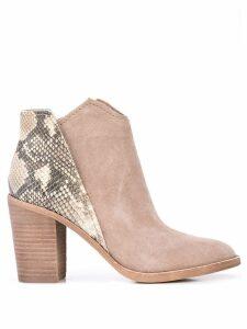 Dolce Vita snakeskin print Shep boots - Brown