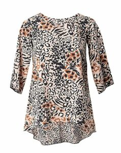 Lovedrobe GB Leopard Print Blouse