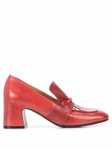 Madison. Maison block heel loafers - Red