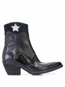 Madison. Maison star detail ankle boots - Black