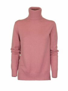 Loro Piana Dolcevita Parksville Baby Cashmere Pink Eyeshadow Sweater