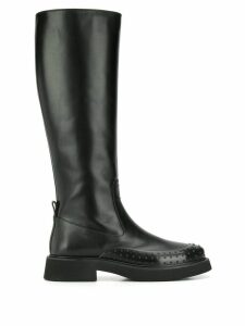 Tod's Gommino embellished knee-height boots - Black
