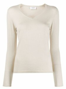 Snobby Sheep Lurex Slim V Neck Sweater