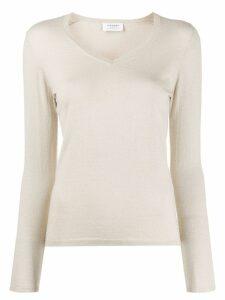 Snobby Sheep Lurex Slim V Neck Sweater