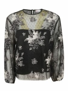 RED Valentino Floral Laced Blouse