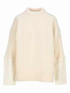 Haider Ackermann Cotton Insert Wool Knit Jumper