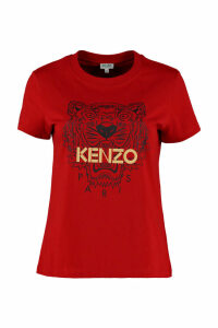 Kenzo tiger Print Cotton T-shirt