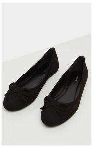 Black Round Toe Ballet, Black
